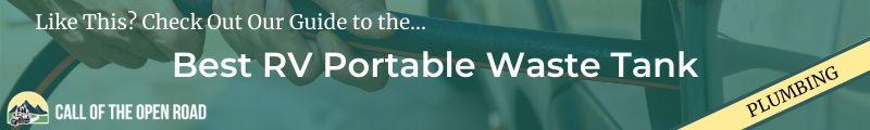 Best RV Portable Waste Tank Banner