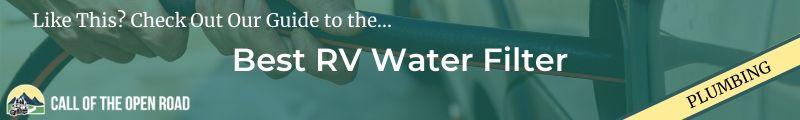 Best RV Water Filter Banner
