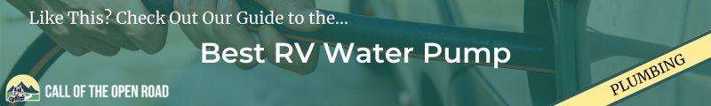 Best RV Water Pump Banner