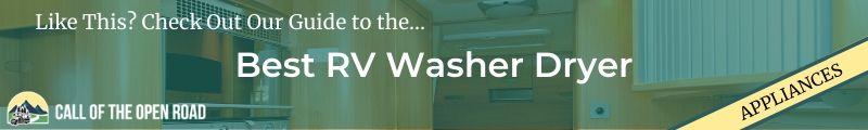 Best RV washer dryer Banner